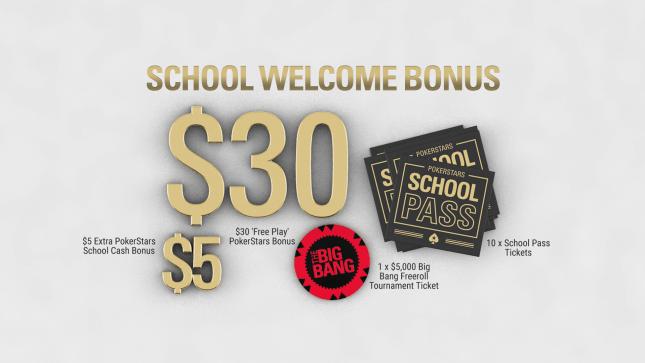 Приветственный бонус школы покерстарс